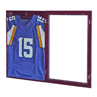 "HOMCOM 24""x32"" Baseball Shirt Cabinet Jersey Display Case Football  Basketball"