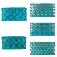 Blue Irregular Pattern Embossing Folder Template DIY Photo Album Handmade Craft