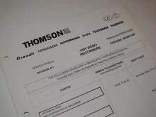Thomson R5000 Magnétoscope / VCR ~ service manuel révision 1 pages