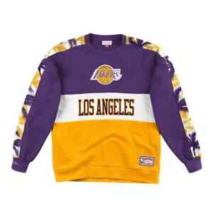 Los Angeles Lakers Mitchell & Ness NBA Leading Scorer Fleece Crew Sweatshirt
