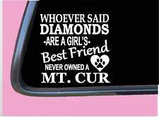 """Mountain Cur Diamonds Tp 501 Sticker 6"""" Decal rescue dog squirrel hunting"""