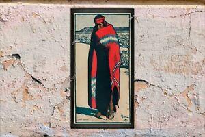 1902 MAYNARD DIXON NAVAJO INDIAN BLANKET  13X25 CANVAS  ART POSTER PAINTING