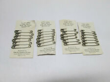 "NEW Lot of 24 Vintage Oakville Scovill Safety Pins 2"" Large Size 3 Guarded Coil"