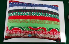 Handcrafted 100% Cotton Pillow - Christmas And Snowmen #5695