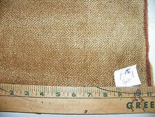 Brown Beige Chevron Print Chenille Fabric / Upholstery Fabric 1 Yard R76