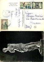 925 - Francia - Giornata francobollo (mongolfiera) su cartolina per Milano, 1956