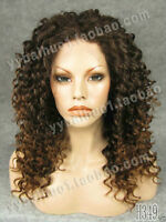 Fashion wig New Charm Women's long Brown Blonde Curly Natural Hair Full