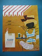 PUBLICITE DE PRESSE FLASH CIGARETTES ILLUSTRATION JEAN BERRY AD 1965