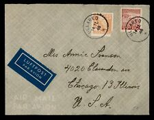 Dr Who 1946 Ullared Sweden Cacnel Coil Air Mail To Usa d24922