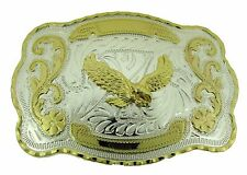 Eagle Belt Buckle Gold Silver Rodeo new Mens Cowboy Western American War Winged