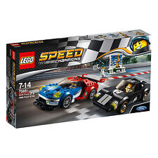 75881 LEGO Speed Champions 2016 Ford GT & 1966 Ford GT40 366pc Age 7-14 New 2017