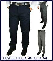 pantaloni uomo elasticizzati taglie Forti invernali Eleganti vita alta fustagno