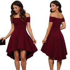 New Women's Summer Casual Off-Shoulder Party Evening Cocktail Swing Short Dress