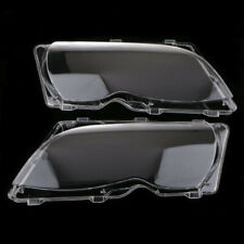 For BMW E46 4DR 2002-2005 2x Car Headlight Head Lamp Lense Clear Lens Cover