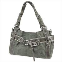 Francesco Biasia Tote bag Grey Canvas Leather Woman Authentic Used C3441