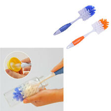 2 in 1 Baby Milk Feed Bottle Nipple Glass Cup Nozzle Spout Tube Cleaning Brush#