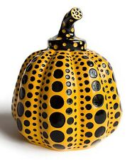 Yayoi Kusama 'Pumpkin' Sculpture Multiple Paperweight Spots Yellow / Black *New*
