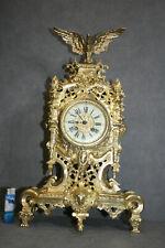 Grose Imposante Antike Französische Gold vergulde Bronze Kaminuhr um 1875 Jhr.