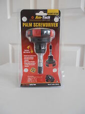 NEW Am-Tech Palm Screwdriver with 14 Bits