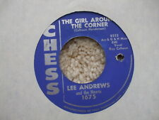 Lee Andrews - Teardrops / The Girl Around The Corner- USA Jukebox 45 Chess 1675