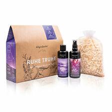 Bio Geschenk-Set Nachtruhe mit 100% Bio-Öle - Bio Lavendel Duft und Badeset