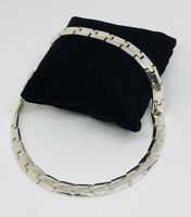M&S Vintage Statement Necklace Silver Tone Chunky Links Collar Length Smart
