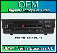 BMW 1 Series CD player, BMW Business car stereo, BMW E81 E82 E87 E88 radio unit