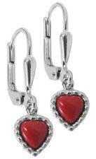TRENDOR bijou argent Boucles d'oreilles Corail 49167