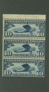 United States Postage Stamp #C10a MNH F/VF Booklet Pane of 3