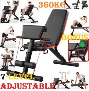 Adjustable Dumbbell Weight Abdominal Bench Sit-up Fitness Flat Gym Exercise