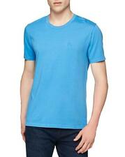 NWT Mens Burberry Brit Havant Cerulean Blue Embroidered Knight T Shirt sz L