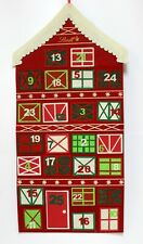 Lindt Felt Christmas Countdown Calendar Advent Roof top 2012 Pockets Wall Hangin