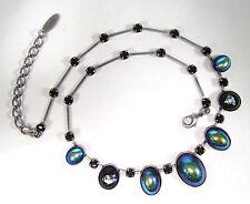 Versilberte Modeschmuck-Halsketten mit Cabochon-Schliffform für Damen