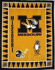 "RARE College Fleece Fabric - NCAA Missouri University - Anti-Pill 48x60"" Panel"