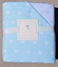 POTTERY BARN TEEN ~ HEART FLANNEL FULL / QUEEN DUVET IN LIGHT BLUE