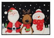 Christmas Accent Rug Holiday Friends Nylon Floor Mat 20 x 30 Inch Skid Resistant