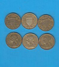 ° Ile de La Réunion  Lot de 3 x 20 Francs 1955, 1961 et 1962