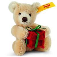 """Steiff MINI TEDDY BEAR WITH PRESENT Mohair 3.9"""""""
