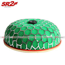 "Universal Air Filter 3"" Mushroom HK-S Air Intake Chrome Opening Top Cone Green"
