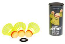 3 x NIGHT Speeder® Speedminton® Speed Badminton Federball Federbälle + Windring
