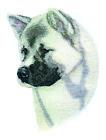 AKITA Dog Breed Bathroom SET OF 2 HAND TOWELS EMBROIDERED