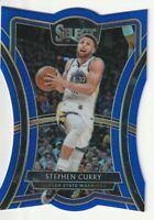 2019-20 Panini Select Prizm Blue Die Cut Premier Level Stephen Curry Steph /249