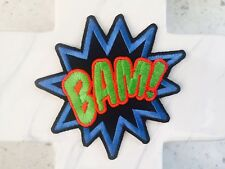 BAM Kapow Comic Book Term Kids Hero Word Party Iron On Patches Patch