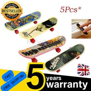5x Mini Pack Finger Board Tech  Skateboard Deck Truck Toy Gift Kids Children UK
