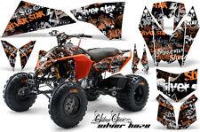 AMR Racing KTM 450/525 XC ATV Graphics Decal Kit Quad Stickers 08-13 SLVRHZE ORG