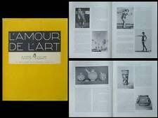 L'AMOUR DE L'ART 1929 PEINTURE CINEMA, LEGER, OZENFANT, CERAMIQUE PROTO ELAMITE