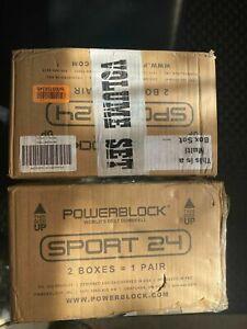 PowerBlock Sport 24 Adjustable Dumbbells - 3-24 lbs. - NEW! - 1 Pair Grey