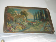 ANTIQUE PICTURE PRINT of OIL PAINTING BY R. Atkinson Fox