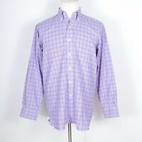 New & Lingwood Purple Check Dress Shirt 15.5 (EUR 39)