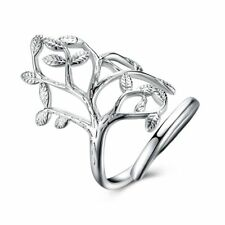 Fashion 925Sterling Solid Silver Jewelry Geometry Rings For Women R935